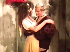 Retro couple having rough sex