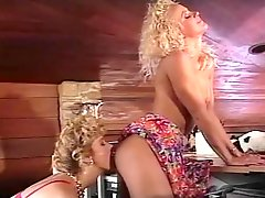 Betty Jean Bradley and Britt Morgan eat pussies in hot vintage video