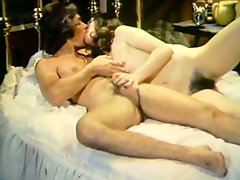 Sweet and spoiled lesbians lick each others hairy pussies like crazy
