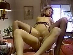 Hot tempered big assed blond whoe Ginger Lynn rides cock in reverse cowgirl pose