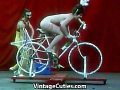 Beautiful Girl is Riding a Sex-bike