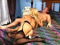 Dirty blonde MILF Morgan LeFay is hungry for some rough loving