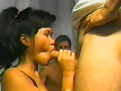 Retro porn with a charming Asian sex doll