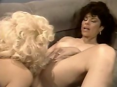 Vintage brunette helps her girlfriend to reach an orgasm