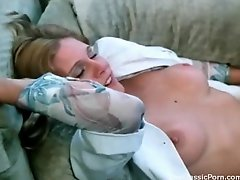 Lick and fuck hairy retro pussy