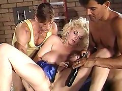 Beautiful blonde with big boobs gets her ass fucked in this vintage classic