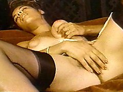 Vintage Ebony Chick Masturbating Alone