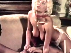 Retro blonde having her pussy slamed