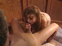 Retro hardcore where a babe gets drilled on the stairs