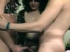 Vintage shemale is hot at threesome