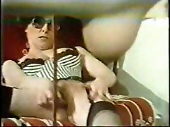 Hot and steamy vintage lesbian action with two horny brunettes getting enema