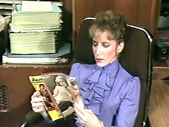 Fair haired old secretary presents solid BJ to her kinky boss