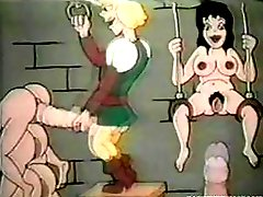 Classy retro porn cartoons showing tender babes fucked by mosnter cocks
