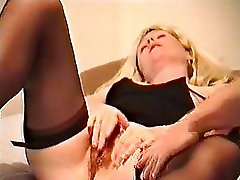 Misstress Nicole rubs, cums and fucks
