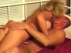 Curvy blonde mom Tamara gets her pussy fucked from behind