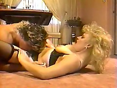 Sex addicted dude licks hairy pussy of blond chubby whore
