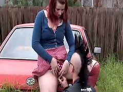 Australian punk fingers girlfriend in junkyard