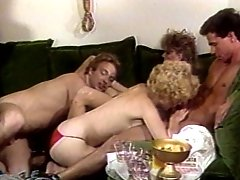 Sex crazed icons in hot sex orgy