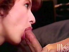 Retro porn clip with a horny girl getting fucked after a party