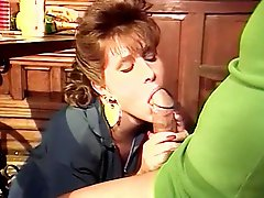 Eating guys pecker under table