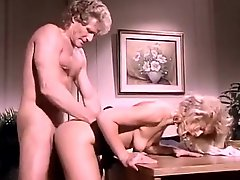 Classic porno vid featuring hot blonde chick