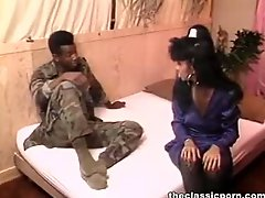 Ebony  rod pleasure for stocking gal