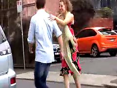 Girl gets fingered in the street