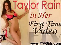 Taylor Rain Fucking Her wet cunt And round butt 2 toys