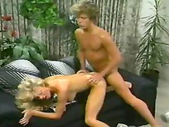 Classic porn scene with a gorgeous blonde