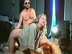 Feverish freak doggy fucks booty insatiable tramps in hayloft