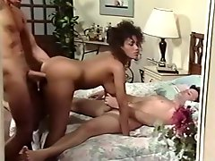 Booty brunette with nice boobs gets drilled hard on the bed