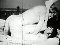 Muscular guy finds himself a slim young guy to fuck in this monochrome classic