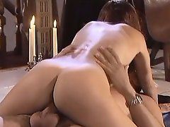 Yummy girl shows her tasty tits and allows dude to fuck her ass