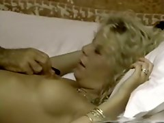 Beautiful chick in sexy black lingerie gets her pussy fucked and licked