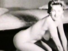 Retro compilation scene of posing beauties