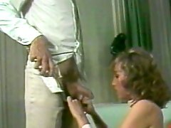 American retro couple having homemade sex action