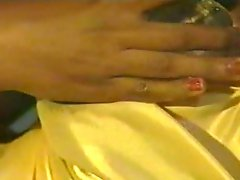 Couple of sensual lesbian teens in romantic retro video