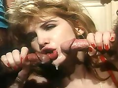 Retro video with sexy blonde getting fucked and facialed