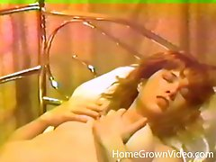 Hubby helps out his masturbating wife with a steamy pussy licking