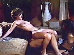 Two retro babes get their hairy pussy filled with dick