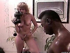 Big Black Cock Fucks Brunette Slut