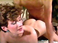 Retro milf bent over and taken from behind