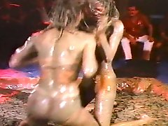 Vintage Topless Mud Wrestling