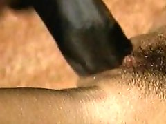 Dainty brunette getting drilled by big black cock in saucy interracial shoot