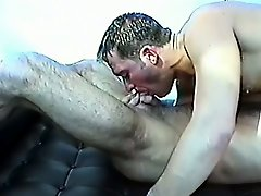 Hot gay couple suck dick and have a wild session of ass banging