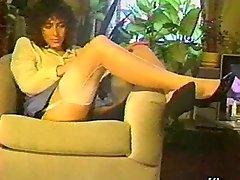 A Brunette Wearing Stockings Goes Hardcore In A Retro Clip