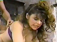 Extremely sexy light haired babe with nice ass gets a double penetration fuck