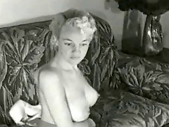 1950's Blonde Pin-Up Angel Lounging