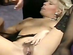 Luscious blonde MILF gives head in flying 69 position