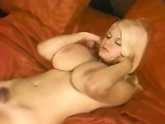 This voluptuous blonde chick likes caressing and massaging her big...